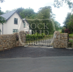 Delgany Wicklow, brown granite and shale stone entrance